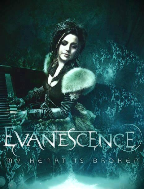 Amy Lee: Image of Evanescence, appears to be a promotional of Evanescence's Single, My Heart is Broken..