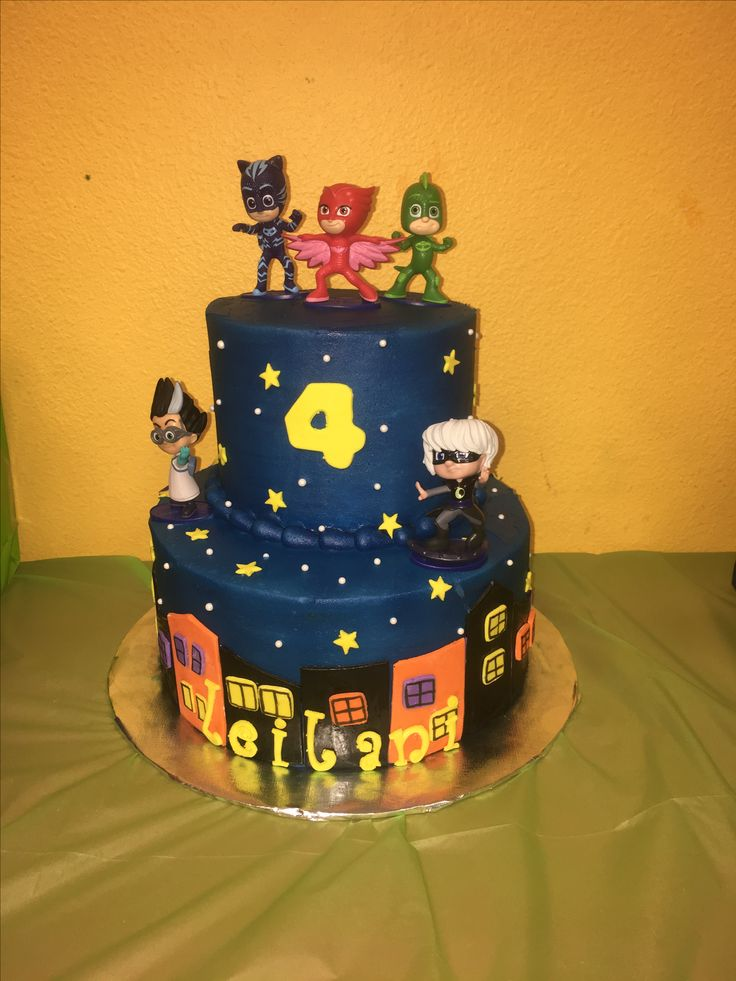 PJ masks birthday cake