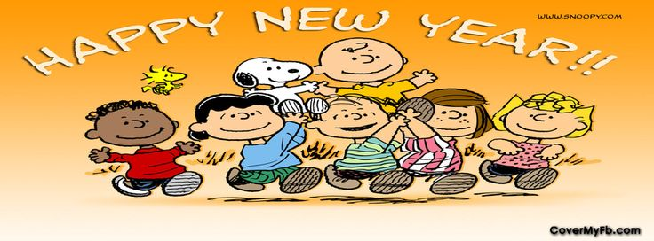 Happy New Year Charlie Brown Facebook Covers, Happy New Year Charlie Brown FB Covers, Happy New Year Charlie Brown Facebook Timeline Covers, Happy New Year Charlie Brown Facebook Cover Images