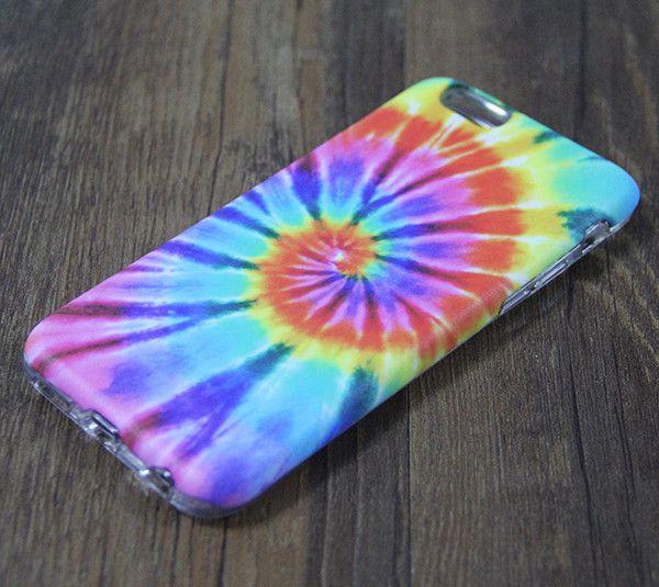 Tie Dye Rainbow iPhone 6s 6 Tough Case/Plus/5S/5C/5/SE Dual Layer Case – Acyc