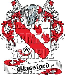 Glassford Family Crest apparel, Glassford Coat of Arms gifts