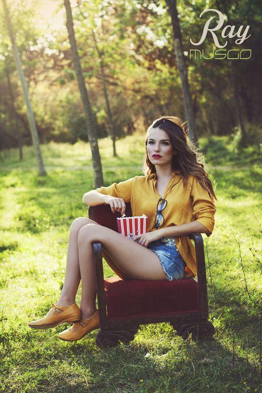 lookbook verano 2015 - RAY MUSGO Zapatos ecologicos de mujer #girl #model #modelo #chica #mujer #moda #fashion #green #verde #palomitas #popcorn #cine #cinema #movies