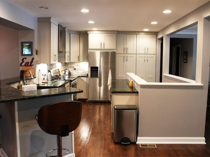 Ranch remodel by removing several walls the house now has an open concept floor kitchen layoutdiy