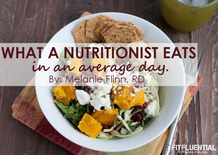what a nutritionist eats