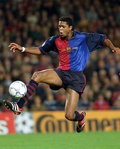 The Amazing Patrick Kluivert (Ajax, Milan, FC Barcelona, Newcastle United, Valencia, PSV Eindhoven, and Lille.)