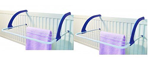 2 X Heavy Duty 5 Bar Radiatior Airer Laundry Washing Clothes Socks Airer Drier White Indoor Airer With Foldable Arms Wilson_Direct http://www.amazon.co.uk/dp/B00N42SA9E/ref=cm_sw_r_pi_dp_1Aydub1CMJCD0