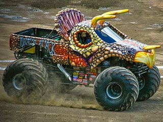 jurassic attack. Love monster trucks!
