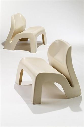 Fiberglass chairs by Luigi Colani, 1967