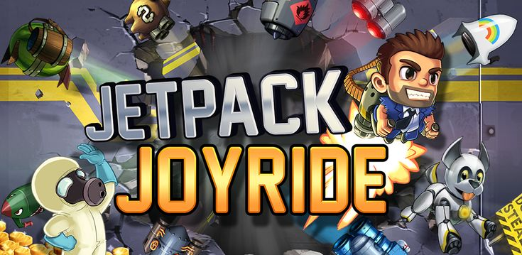 Jetpack Joyride - Suit up with a selection of the coolest jetpacks ever made and take to the skies on a one-way trip to adventure! Pick up and start flying in seconds, but spend hours enthralled by Jetpack Joyride's addictive gameplay.You'll play as Barry Steakfries, the square-jawed and grizzled hero of the game. Barry must break into a secret laboratory to commandeer the experimental jetpacks from the clutches of evil scientists.