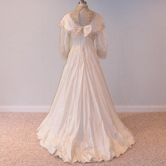 1900 Silk Wedding Gown