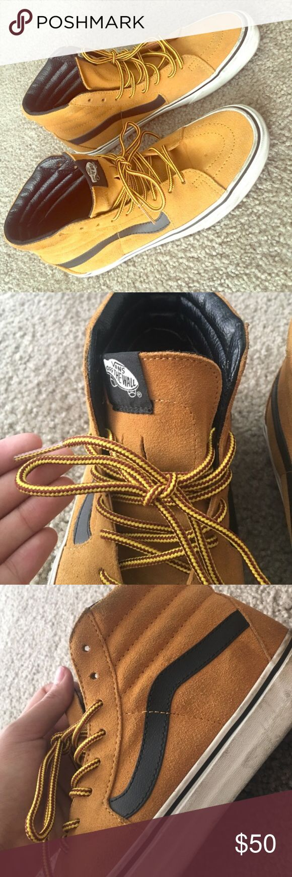 Vans Hi Suede  Very nice shoes. Selling only because I have too many items. Size 8.5 in men's and 10 in women's. Ask for more details. Also see my other listings. Everything's cheap! :) Vans Shoes Sneakers