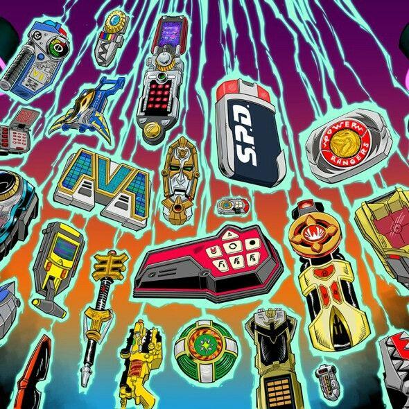 Super Sentai Power Rangers Morphers | Sentai | Power rangers