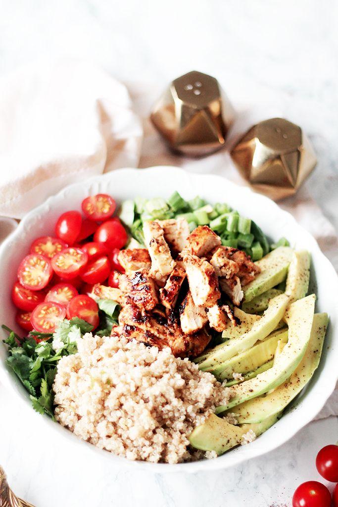 Salade composée au poulet au miel