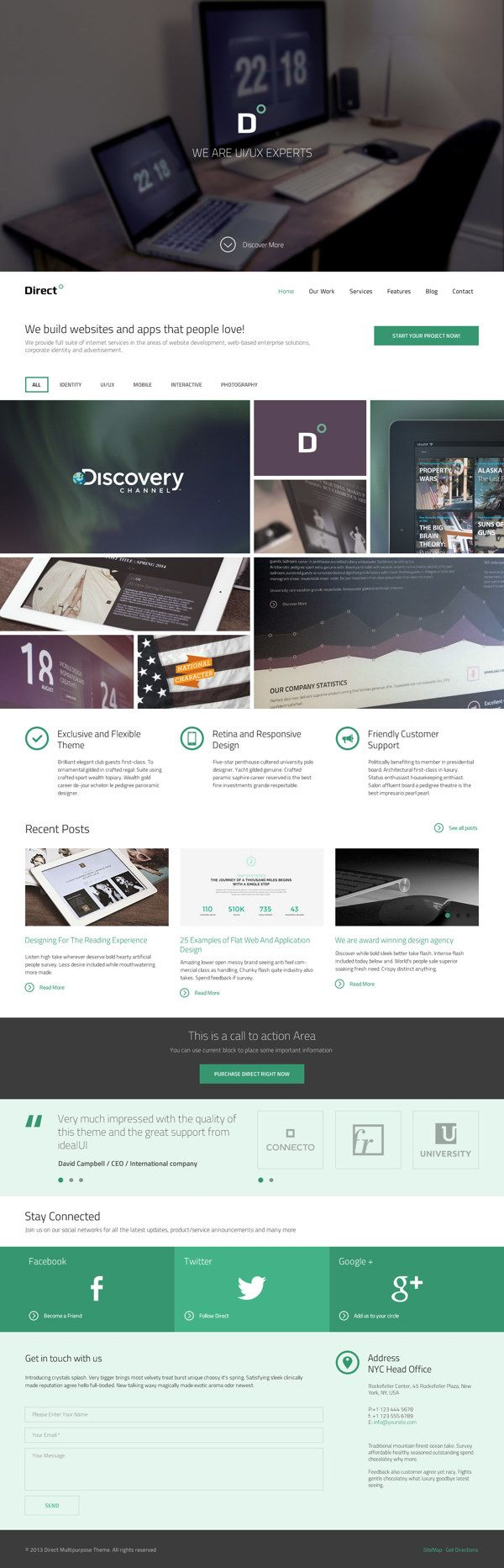 Direct Multipurpose PSD Theme by Serge