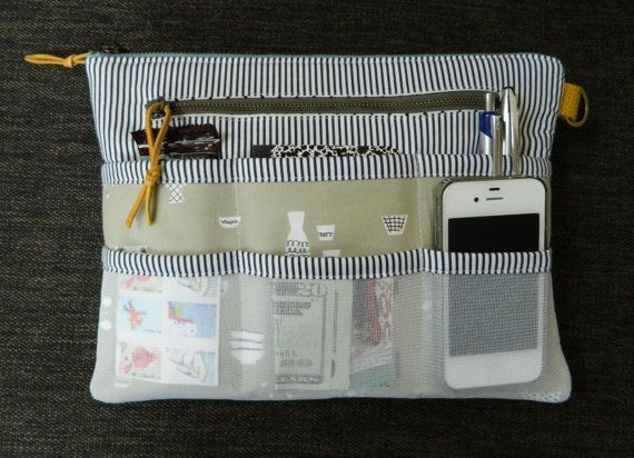 purse organizer ~ instant download pdf pattern, zipper pouch, bag, tablet case