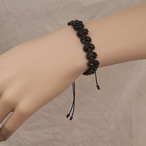 #Handmade #Black #Beaded #Bracelet  Anthos #Jewellery – Anthos Crafts