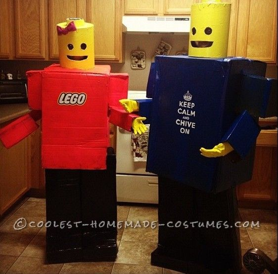 Awesome Homemade Lego Minifigure Couple Costume... Homemade Costume ContestMinifigures Couples, Awesome Homemade, Homemade Lego, Halloween Costumes, Lego Minifigures, Couple Costumes, Homemade Costumes, Couples Costumes, Costumes Ideas
