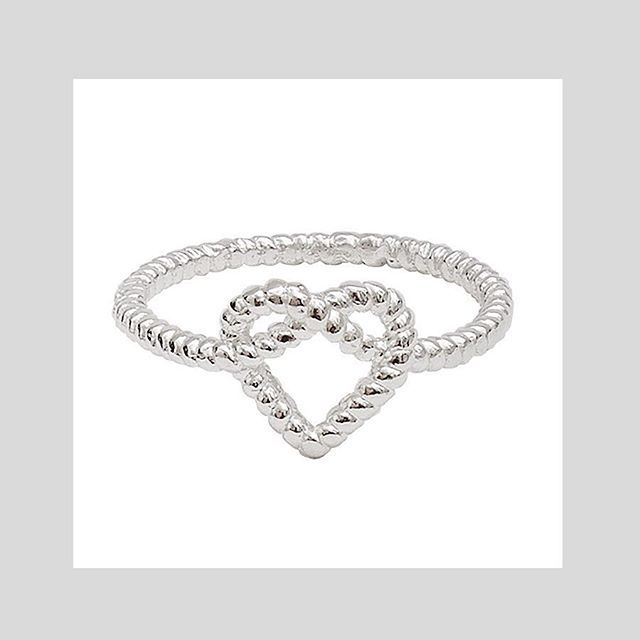 HEART ROPE RINBG #sterlingsilver #gold Nab the last ones of this style or check out the full range at correyandlyon.com.au