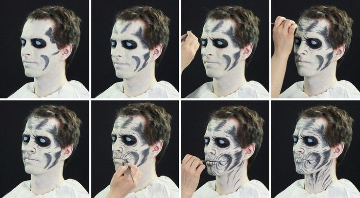 marcheur blanc maquillage-halloween-homme-instructions