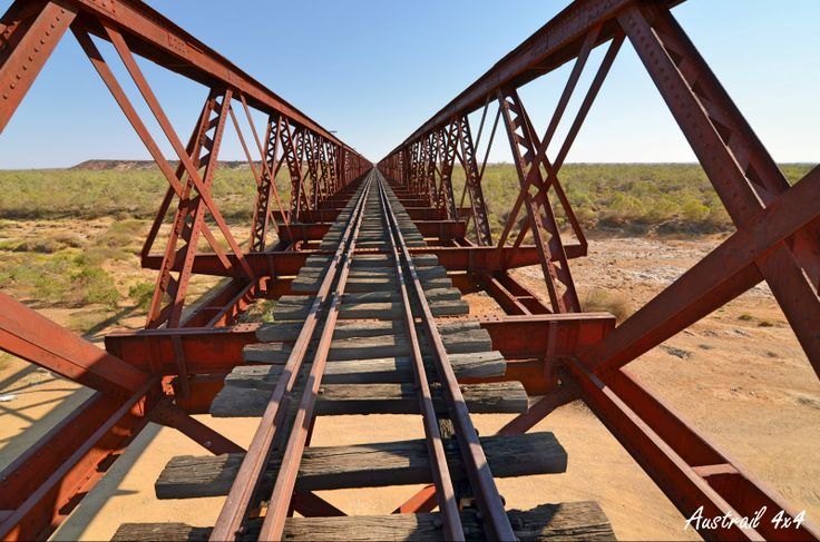 The Algebuckina Bridge was opened in January 1892.The bridge measures 12 metres at it's deepest point over the river bed and 578metres long, making it the longest single bridge in South Australia.   The wreck of Fred's FB Holden sits on the river bank near the bridge. In 1976 Fred was trying to cross the bridge over a flooded Neales River and was pushed off by an oncoming train, Fred lived to tell his tale.