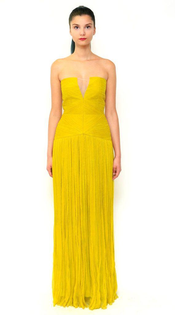 Long silk engagement gown - dress - Prom dress - Wedding dress - pleated dress silk boho style - bridesmaid dress - red carpet dress