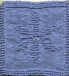 Free Knitting Pattern - Dishcloths & Washcloths : Snowflake Dishcloth