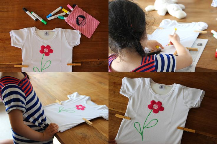 diy gemeinsam mit kindern t shirts bemalen http. Black Bedroom Furniture Sets. Home Design Ideas