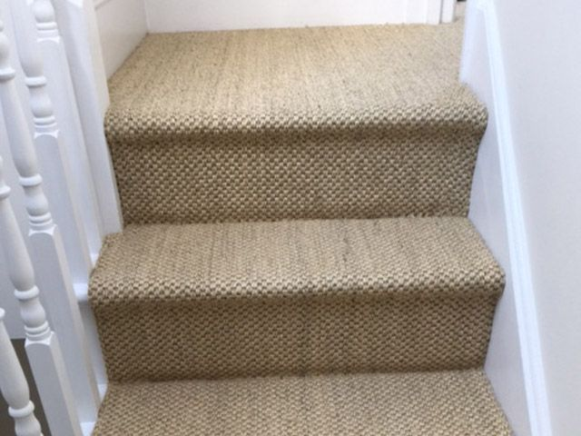 Portoflio Carpet Beige Carpet On Staircase