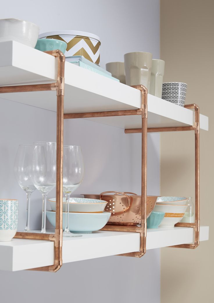 Best 25+ Pipe shelves ideas on Pinterest Industrial shelving - open kitchen shelving ideas