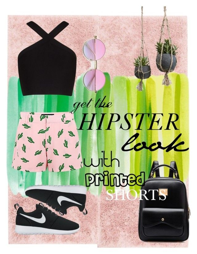 """""""Untitled #91"""" by amberekkel on Polyvore featuring Loloi Rugs, American Retro, BCBGMAXAZRIA and NIKE"""