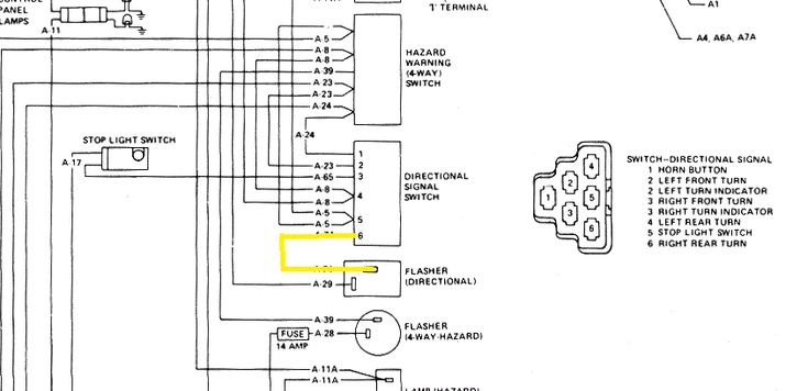 Universal Turn Signal Switch Wiring Diagram