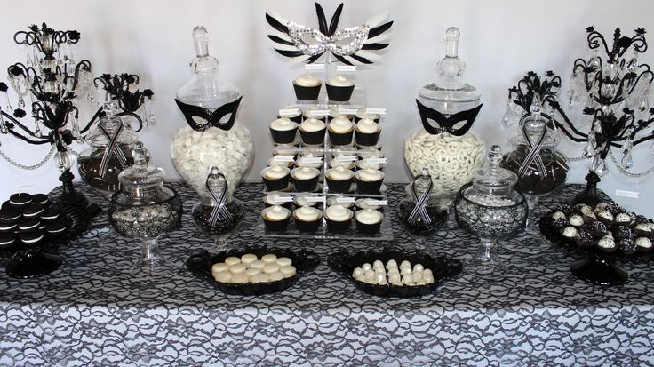 Masquerade Dessert Display by Eye Candy Event Design