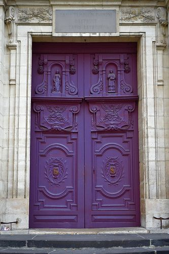 Love this shade of purple for my front door