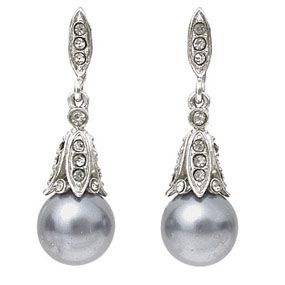 Parisian Black Pearl Earrings - Set with black bohemian glass pearls, our dazzling earrings are based on a nineteenth-century French jewelry design from the hugely successful House of Robin. Established in 1824 by Jean-Paul Robin, the firm catered to the rising French professional and entrepreneurial class.