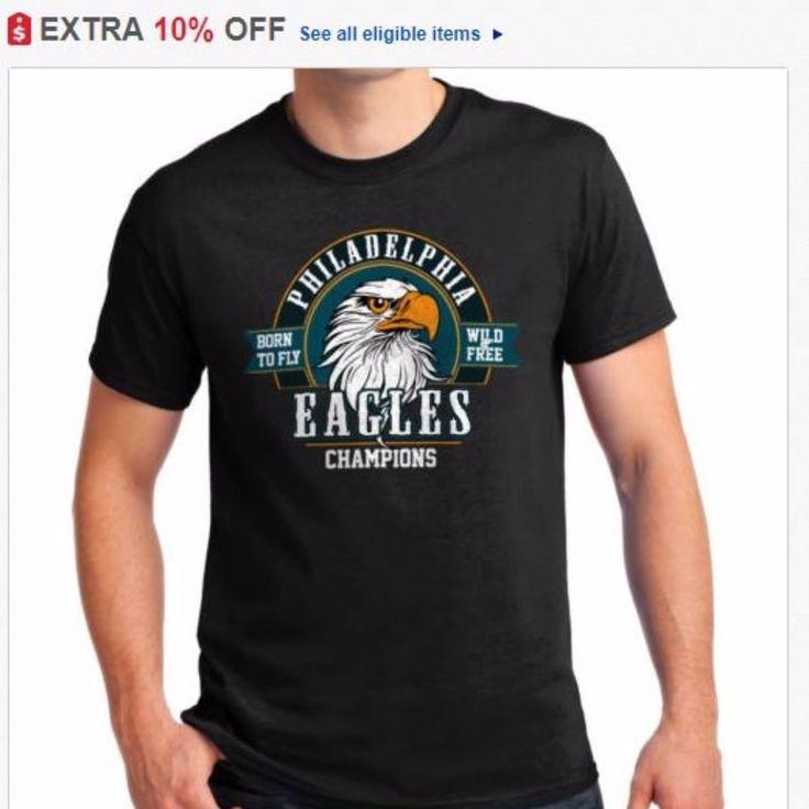 $12.49 Men's Tees Philadelphia Eagles Born To Fly Eagles Fly SB Champions Black T Shirt Klik link in my BIO! for see items  #eagles #philadelphiaeagles #philadelphia #nfl #superbowl #americanfootball #flyeaglesfly #borntofly
