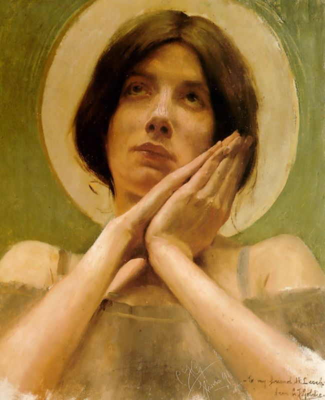 Joan of Arc by Charles Goldie, Oil on canvas