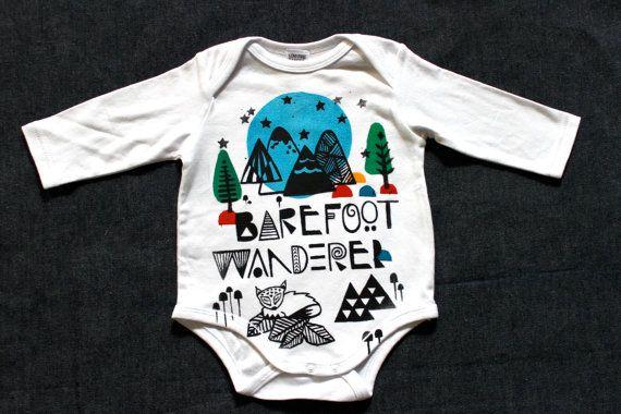 Barefoot Wanderer Unisex Onesie. Sample special by wildtribe, $15.00