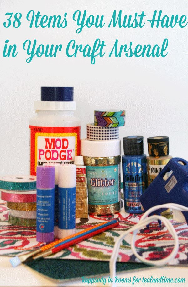 38 Basic Craft Supplies You Must Have in Your Arsenal w/ a printable checklist