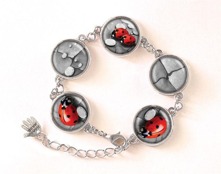 Bracelet LADYBUGS, Jewellery, 0101BS from EgginEgg by DaWanda.com