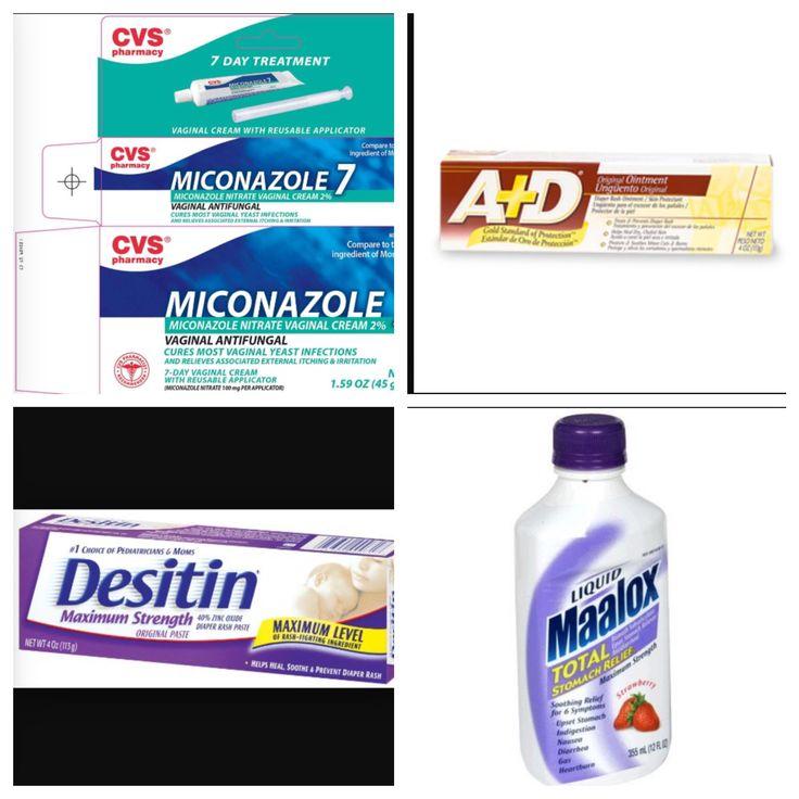 Magic Diaper Rash cream:  Mix 1/4c maalox or mylanta (not mint it burns) 1 tube A & D ointment 1 tube desitin extra strength  1 tube 7 day monistat or clotrimzole   I think the 2% miconazole (monistat) works a little better