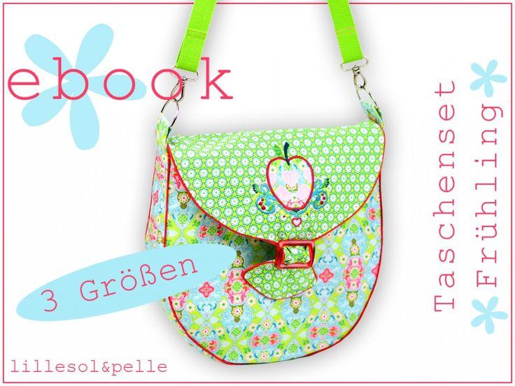 Das Ebook für das Taschenset Frühling ist da! | lillesol & pelle Schnittmuster, Ebooks, Nähen