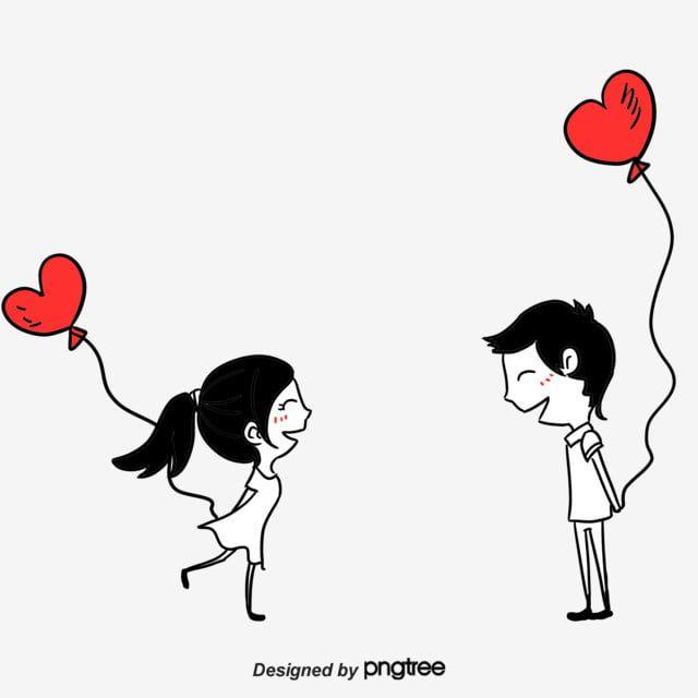 Os Amantes De Desenhos Animados Cartoon O Casal Coracao De Pessego Imagem Png E Psd Para Download Gratuito Couple Cartoon Valentines Day Cartoons Love Png
