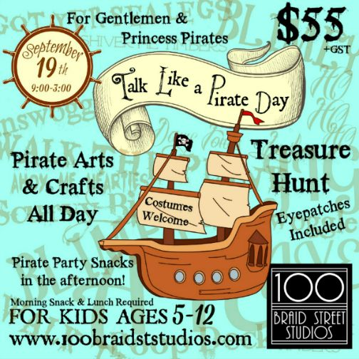 We held an awesome Talk Like a Pirate Day Party at the Studio - if you missed it why not book a private party for your Pirate Gentleman or Princess!