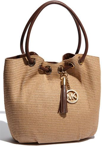 Want for spring.  MICHAEL Michael Kors Straw Ring Tote
