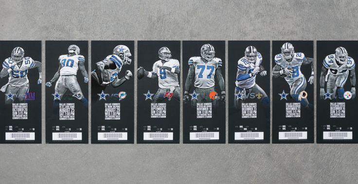 Dallas Cowboys: 2012 Season Tickets | Ticket design ...