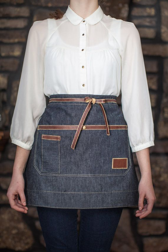 Handcrafted Rustic Denim & Leather Industrial by AuthenticSundry