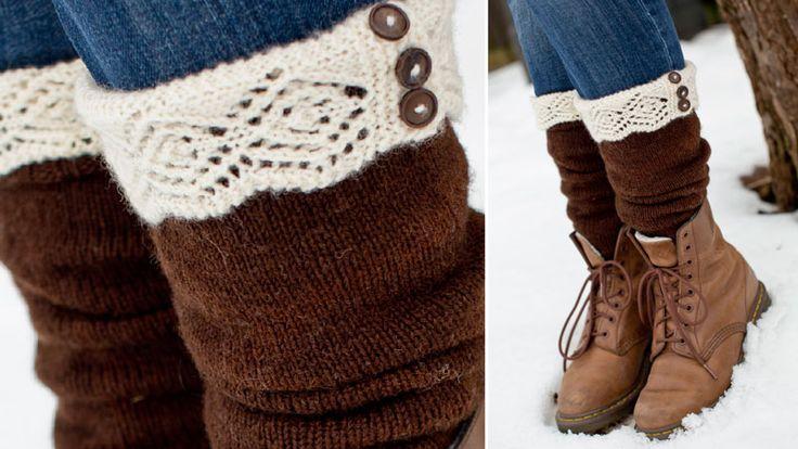 Sticka sköna, långskaftade och romantiska sockor efter vårt mönster som du hittar här!