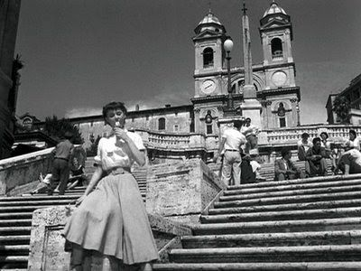 Remember Audrey Hepburn on the Spanish Steps in Roman Holiday ?
