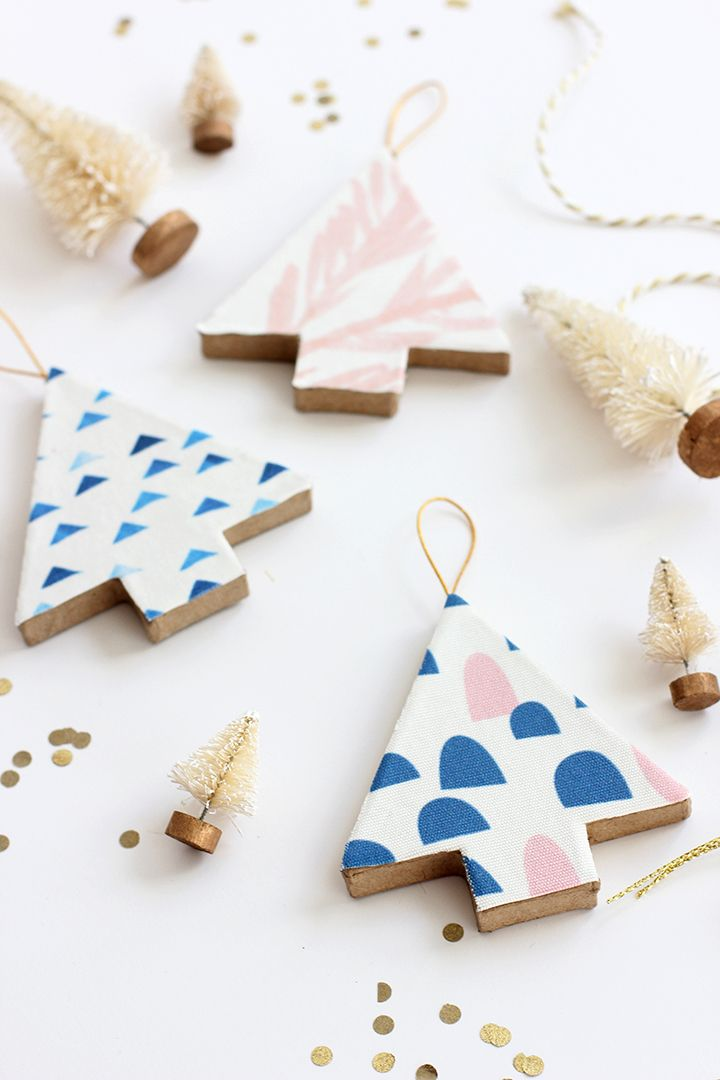 DIY Fabric Covered Tree Ornaments                                                                                                                                                                                 More