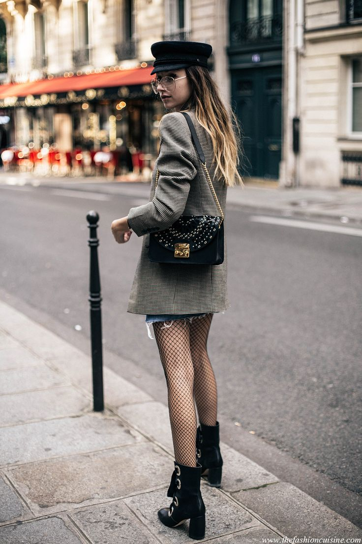 PFW Day 5: My 60's Parisian Style And Fishnet Tights • The Fashion Cuisine